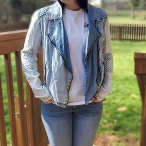 Volcom denim jean jacket ⭐ Size L 0439